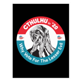 Cthulhu for President in '20 Postcard