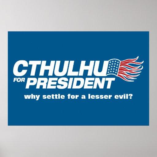 Cthulhu for President Poster