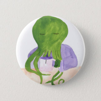 Cthulhu Has A Cup Of Tea 2 Inch Round Button