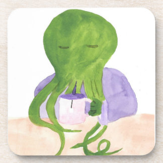 Cthulhu Has A Cup Of Tea Beverage Coaster