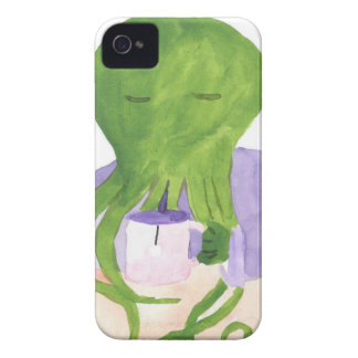 Cthulhu Has A Cup Of Tea iPhone 4 Case-Mate Cases
