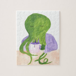 Cthulhu Has A Cup Of Tea Jigsaw Puzzle