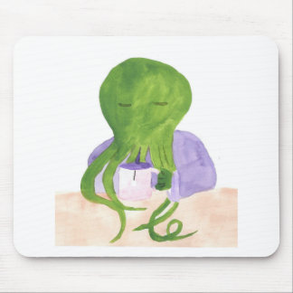 Cthulhu Has A Cup Of Tea Mouse Pad