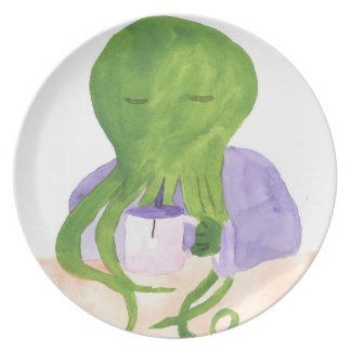 Cthulhu Has A Cup Of Tea Plate