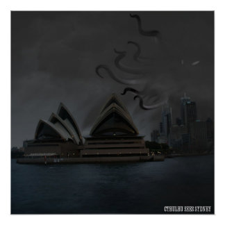 Cthulhu In Sydney Poster