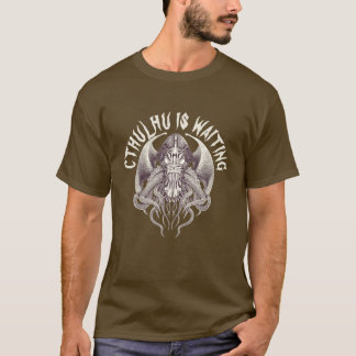 Cthulhu is Waiting No.1 Steampunk T-Shirt