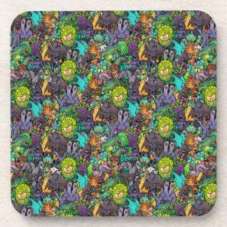 Cthulhu Lovecraft Mythos Chibi Bestiary Beverage Coasters
