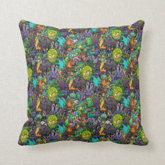 Cthulhu Lovecraft Mythos Chibi Bestiary Throw Pillow