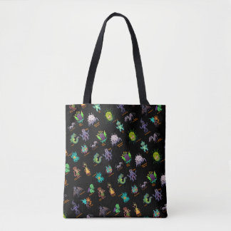Cthulhu Lovecraft Mythos Chibi Bestiary Tote Bag