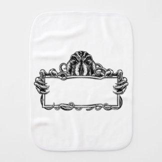 Cthulhu Monster Vintage Sign Burp Cloth
