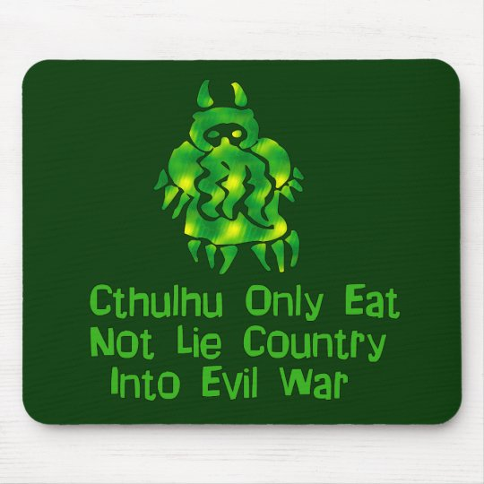 Cthulhu Only Eats Mouse Pad