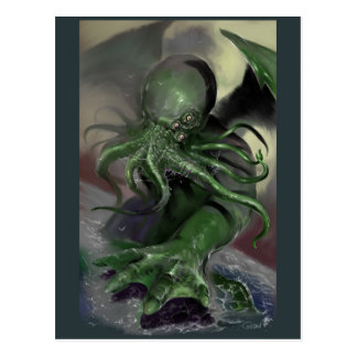 Cthulhu Rising H.P Lovecraft inspired horror rpg Postcard