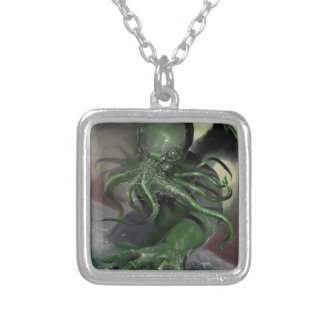 Cthulhu Rising H.P Lovecraft inspired horror rpg Silver Plated Necklace