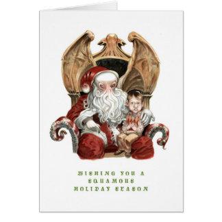 Cthulhu Squamous Holiday Card