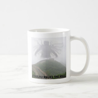 Cthulhu walks the great wall of China Coffee Mug
