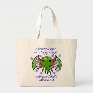 Cthulhu Wonderland Large Tote Bag