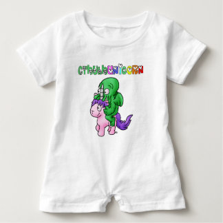 CthulhUnicorn - Word games - François City Baby Romper