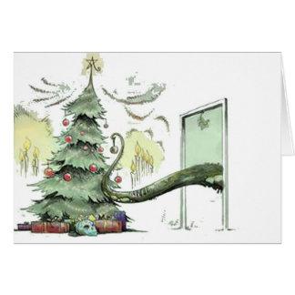Cthulhu's Christmas Tree Card