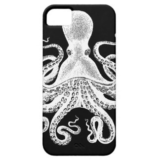 Cthulu Kraken Octopus - Victorian Image on Black Case For The iPhone 5