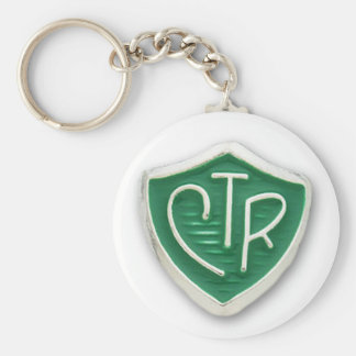 CTR Mormon Choose the Right Basic Round Button Keychain