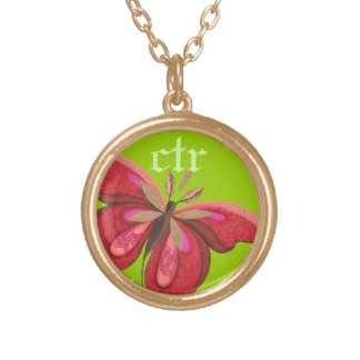 CTR Necklace with Butterfly