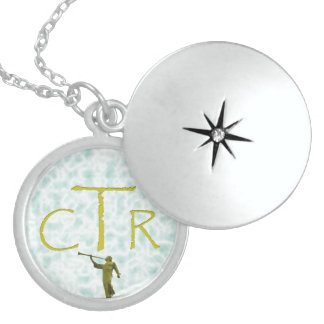 CTR with angel Moroni Locket Necklace