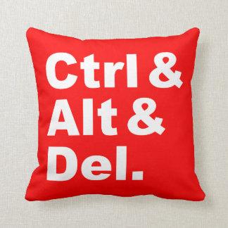 Ctrl & Alt & Del Pillow (inverse colors)