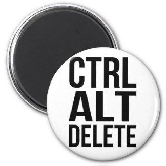 Ctrl+Alt+Delete 2 Inch Round Magnet