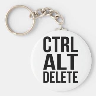 Ctrl+Alt+Delete Basic Round Button Keychain