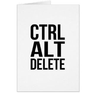 Ctrl+Alt+Delete Card