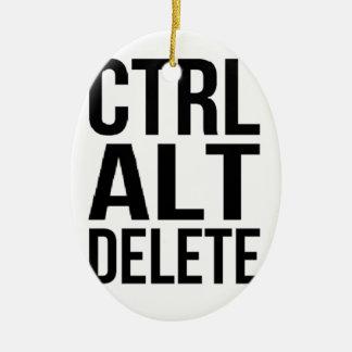 Ctrl+Alt+Delete Ceramic Oval Ornament