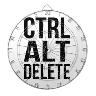 Ctrl+Alt+Delete Dartboard With Darts