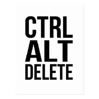 Ctrl+Alt+Delete Postcard
