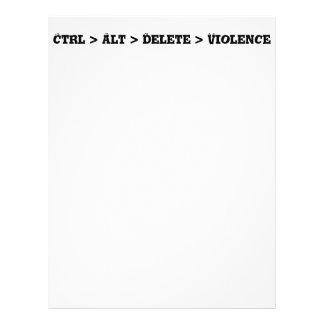 Ctrl > Alt > Delete > Violence - Anti Bully Flyer