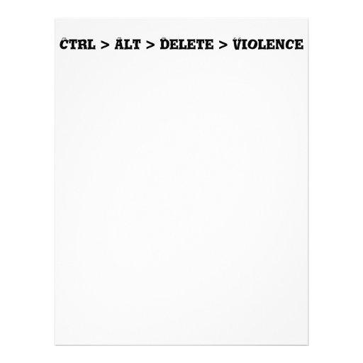 Ctrl > Alt > Delete > Violence - Anti Bully Full Color Flyer