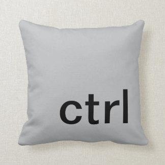ctrl button pillow, Gray & Black Throw Pillow