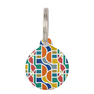 Ctrl in colors / Round Small Pet Tag