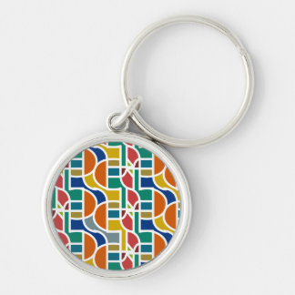 Ctrl in colors / Small (3.7 cm) Premium Key Ring Silver-Colored Round Keychain