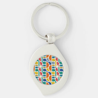 Ctrl /in colors / Swirl Metal Keychain