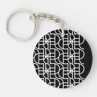 Ctrl (+w) / Circle (double-sided) Keychain