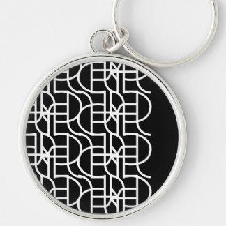 Ctrl (+w) / Large (5.4 cm) Premium Round Key Ring Silver-Colored Round Keychain