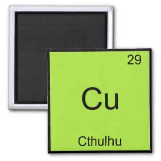 Cu - Cthulhu Funny Chemistry Element Symbol Tee Square Magnet