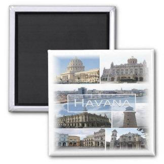CU * Cuba - Havana - Mosaic Magnet