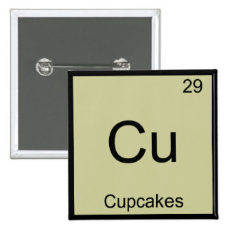 Cu - Cupcakes Funny Chemistry Element Symbol Tee Buttons