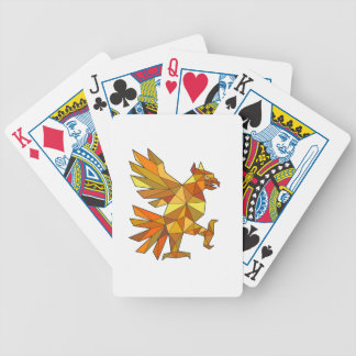 Cuauhtli Glifo Eagle Fighting Stance Low Polygon Bicycle Playing Cards