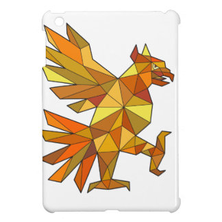 Cuauhtli Glifo Eagle Fighting Stance Low Polygon iPad Mini Case