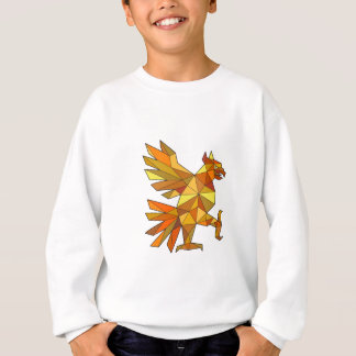 Cuauhtli Glifo Eagle Fighting Stance Low Polygon Sweatshirt