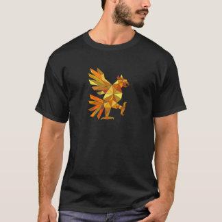 Cuauhtli Glifo Eagle Fighting Stance Low Polygon T-Shirt