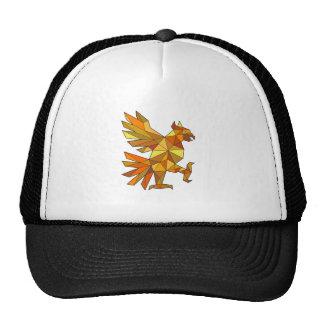 Cuauhtli Glifo Eagle Fighting Stance Low Polygon Trucker Hat