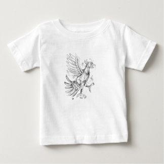 Cuauhtli Glifo Eagle Fighting Stance Tattoo Baby T-Shirt